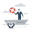 Partnership or insurance concept vector image