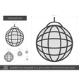 Party ball line icon vector image