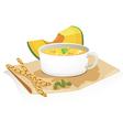 pumpkin soup vector image vector image
