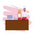 restaurant teamwork avatar vector image