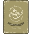 Retro banner for a seafood restaurant vector image vector image
