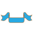 ribbon blue sign 201 vector image vector image