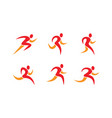 running people icons and symbols vector image vector image