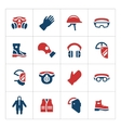 Set color icons of personal protective equipment vector image vector image