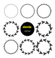 set of 9 circles design elements vector image vector image