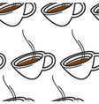 singapore coffee hot drink or tea in cup seamless vector image