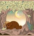 sleeping bear animal set vector image vector image