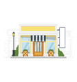 small city hostel building exterior on cityscape vector image vector image