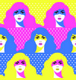 stylish woman mysterious seamless pattern vector image vector image
