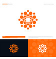 sun or flower logo concept for business vector image vector image