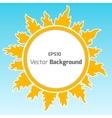 Sunshine round background vector image