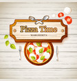 tasty pizza margherita template vector image vector image