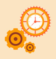 time mechanisms vector image