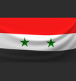 waving national flag of syria vector image