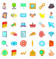 work man icons set cartoon style vector image vector image