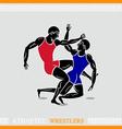 Athlete wrestlers vector image