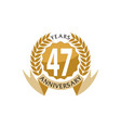 47 years ribbon anniversary vector image vector image