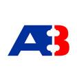 ab a8 initials barbel shape symbol design vector image vector image