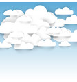abstract shape of clouds vector image vector image