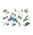 airport isometric terminal equipment security vector image vector image