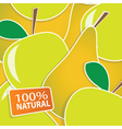 apple and pears background vector image vector image