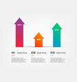 arrows infographics step by step element of chart vector image vector image