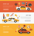 auto horizontal banners vector image vector image