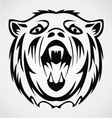 Bear Face Tattoo Design vector image vector image