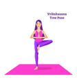 beautiful girl is doing yoga vector image