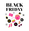black friday christmas sale banner poster vector image vector image