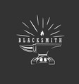 blacksmith logo design vector image