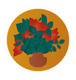bouquet flat icon vector image