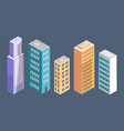 buildings collection poster vector image