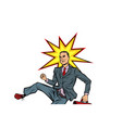 businessman hit on the head vector image vector image