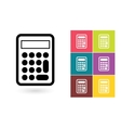 calculator icon or calculator symbol vector image vector image