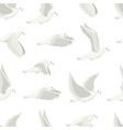 cartoon white dove bird seamless pattern vector image vector image