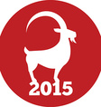 Chinese New Year of the Goat 2015 concept Flat vector image