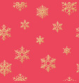 christmas snowflakes seamless repeating pattern vector image vector image