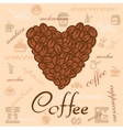 coffee beans art vector image vector image