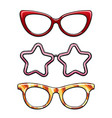 colorful eyeglass frames set vector image vector image