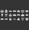 crown icon set grey vector image