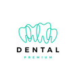 dental tooth teeth outline logo icon vector image vector image