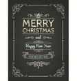 Doodle Merry Christmas Greeting Card vector image vector image
