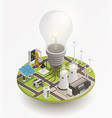 electric power isometric composition icon vector image vector image
