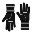 farm gloves icon simple style vector image vector image