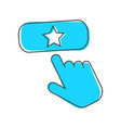 favorit button icon hand presses add vector image vector image