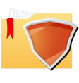 File folder protected by orange shield vector image vector image