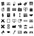 financial icons set simle style vector image vector image