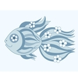 Fish with flowers vector image vector image