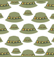 fisher hat pattern background vector image